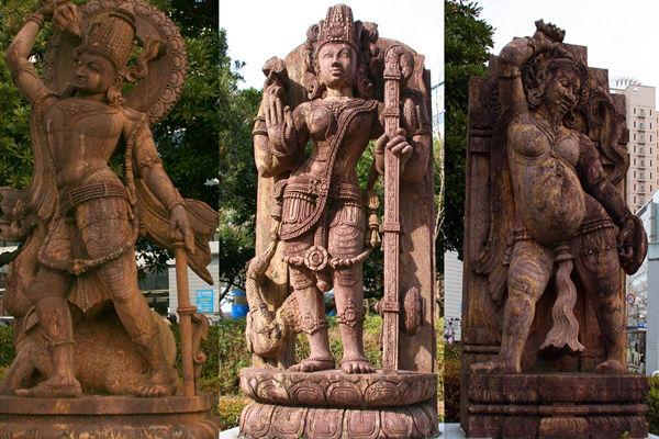 十体のインド神像
