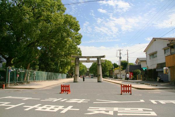 筥崎宮の参道
